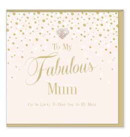 Hearts Design Wenskaart - Fabulous Mum