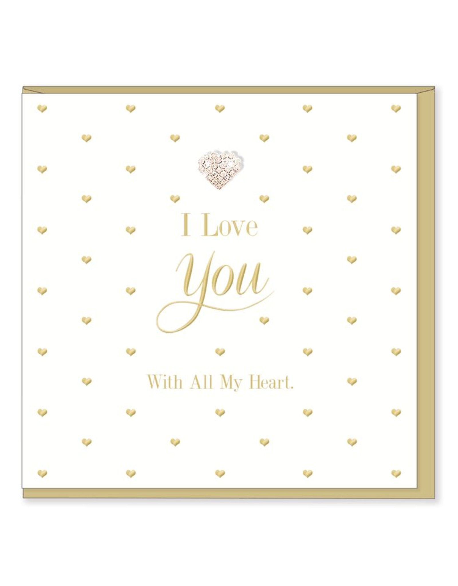 Hearts Design Wenskaart - I Love You