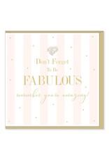 Hearts Design Wenskaart - Be Fabulous