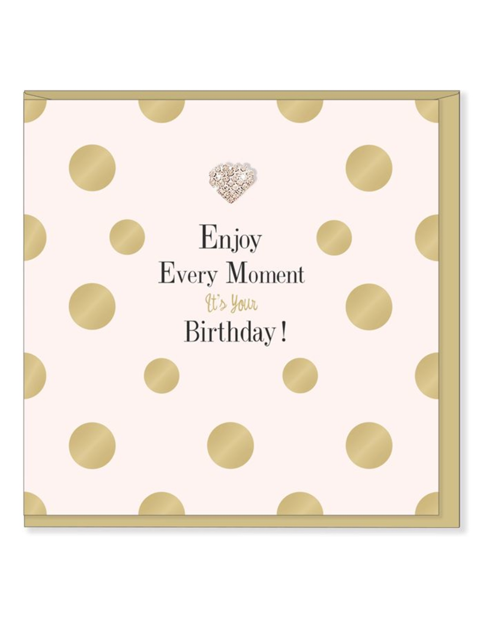 Hearts Design Wenskaart - Enjoy Every Moment - Birthday