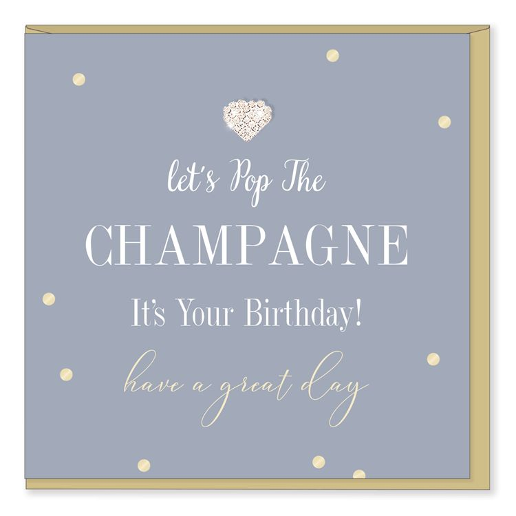 Hearts Design Pop the Champagne - Birthday