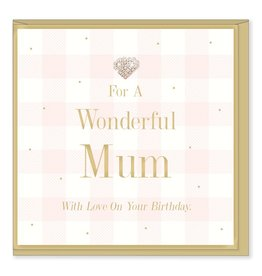 Hearts Design Wonderful Mum - Birthday