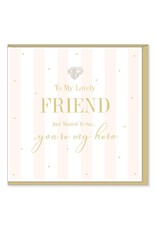 Hearts Design Wenskaart - Lovely Friend - You're my Hero