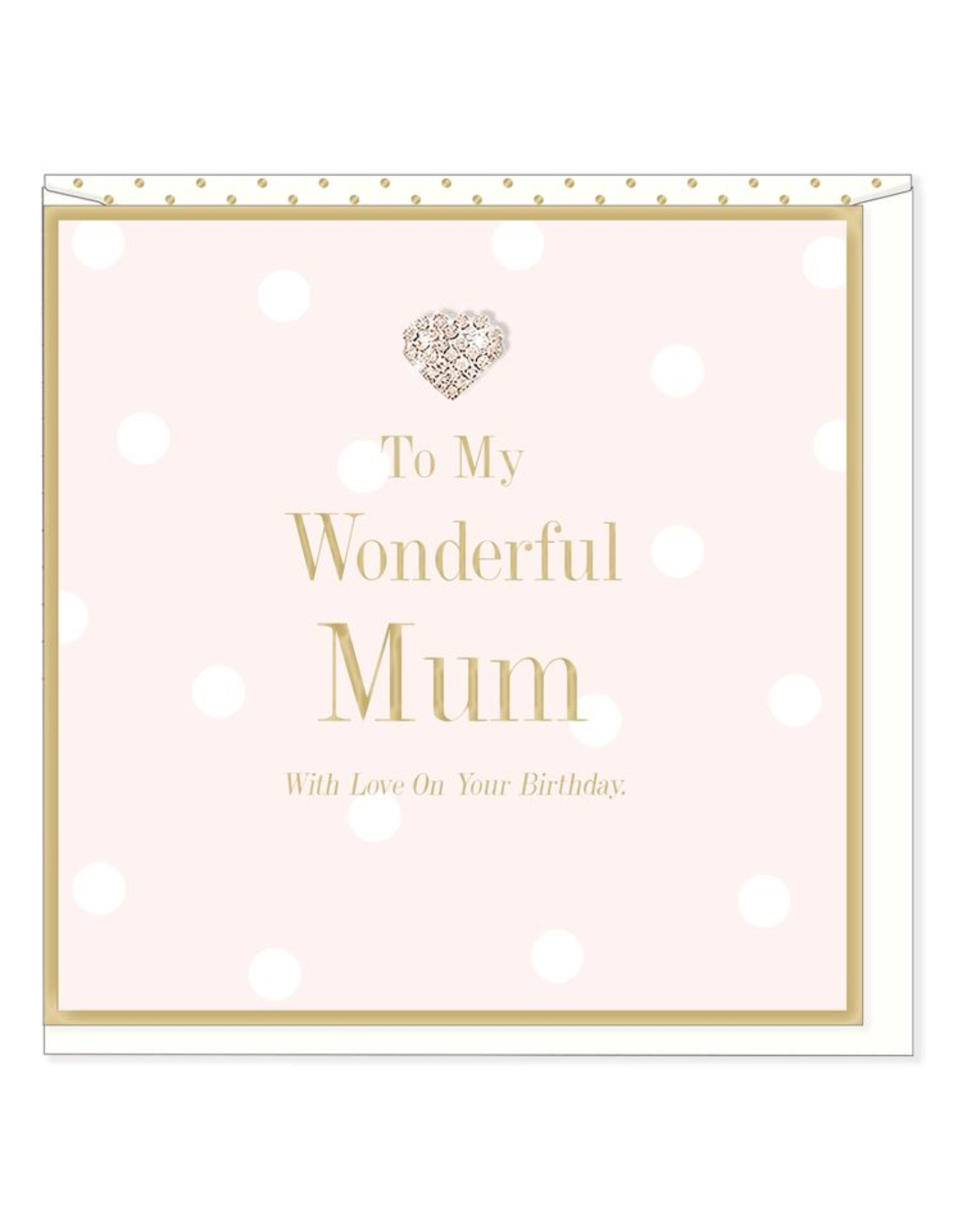 Hearts Design Wenskaart - Wonderful Mum - Birthday