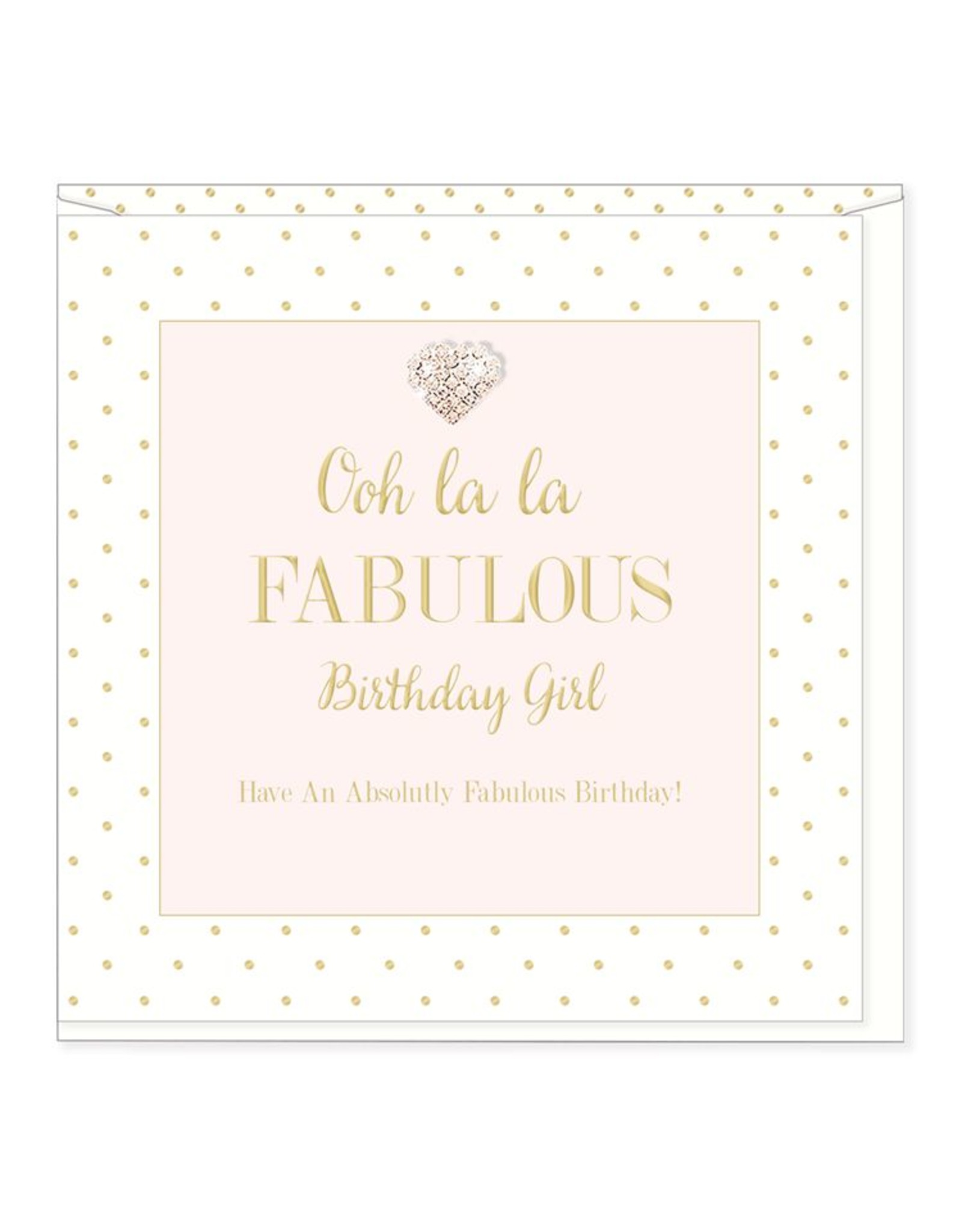 Hearts Design Wenskaart - Ooh La La - Birthday Girl