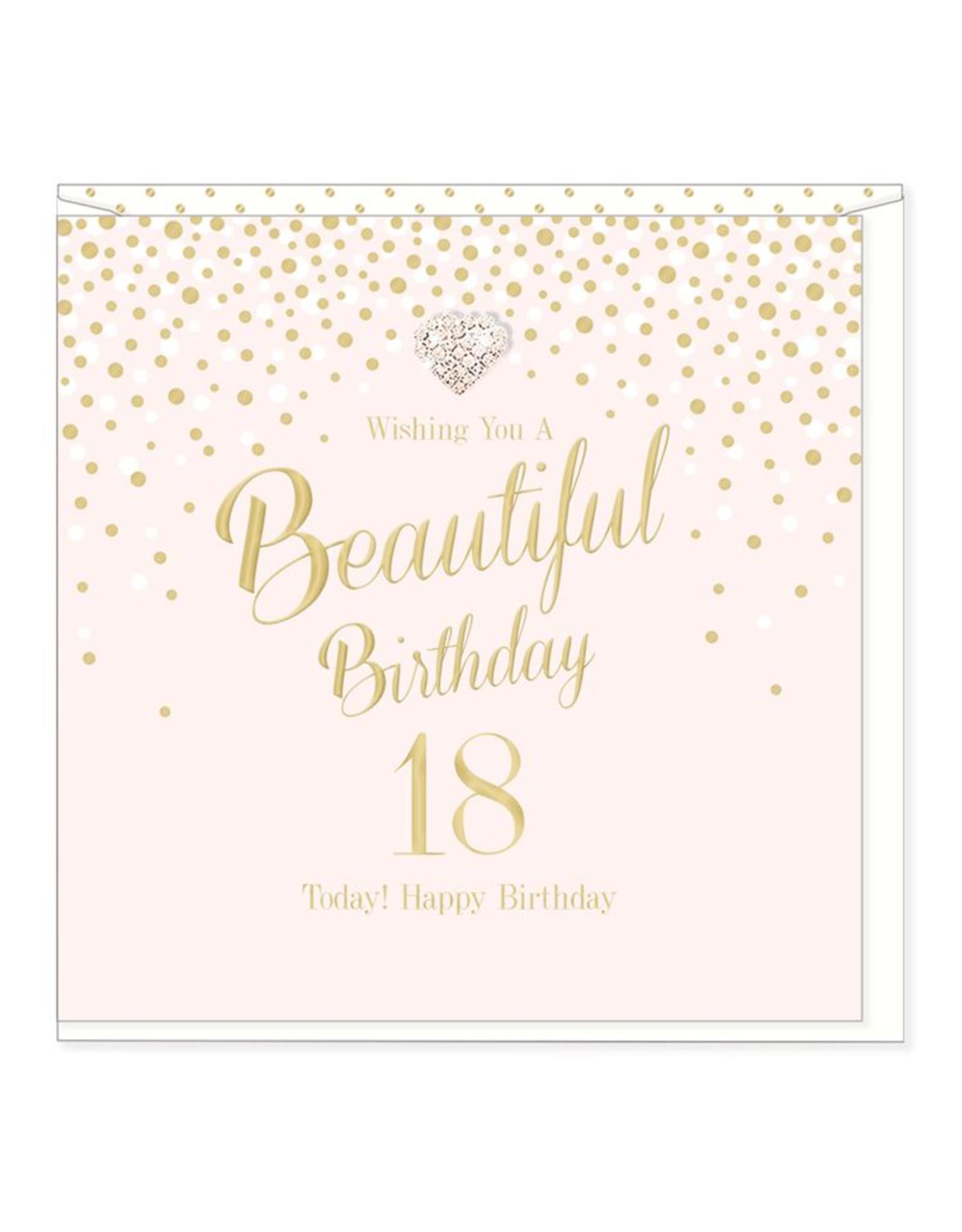 Hearts Design Wenskaart - Beautiful Birthday - 18