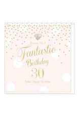 Hearts Design Wenskaart - Fantastic Birthday - 30