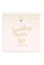 Hearts Design Wenskaart - Sparkling Birthday - 40