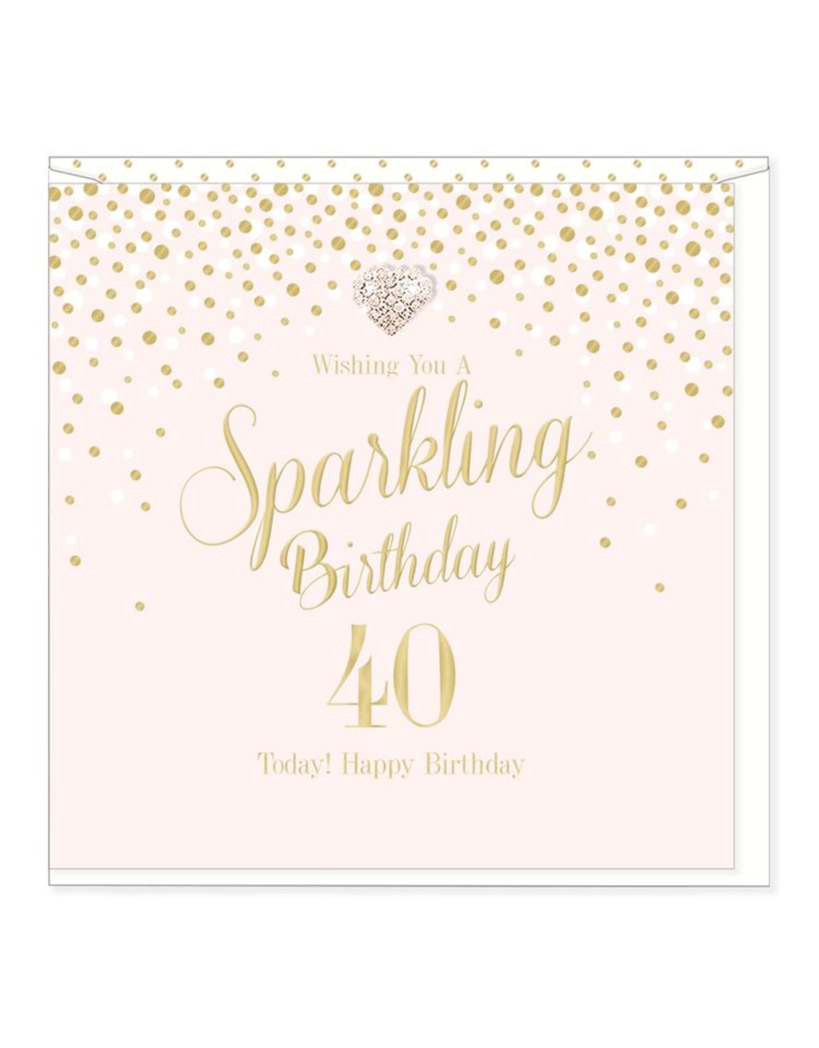 Hearts Design Sparkling Birthday - 40