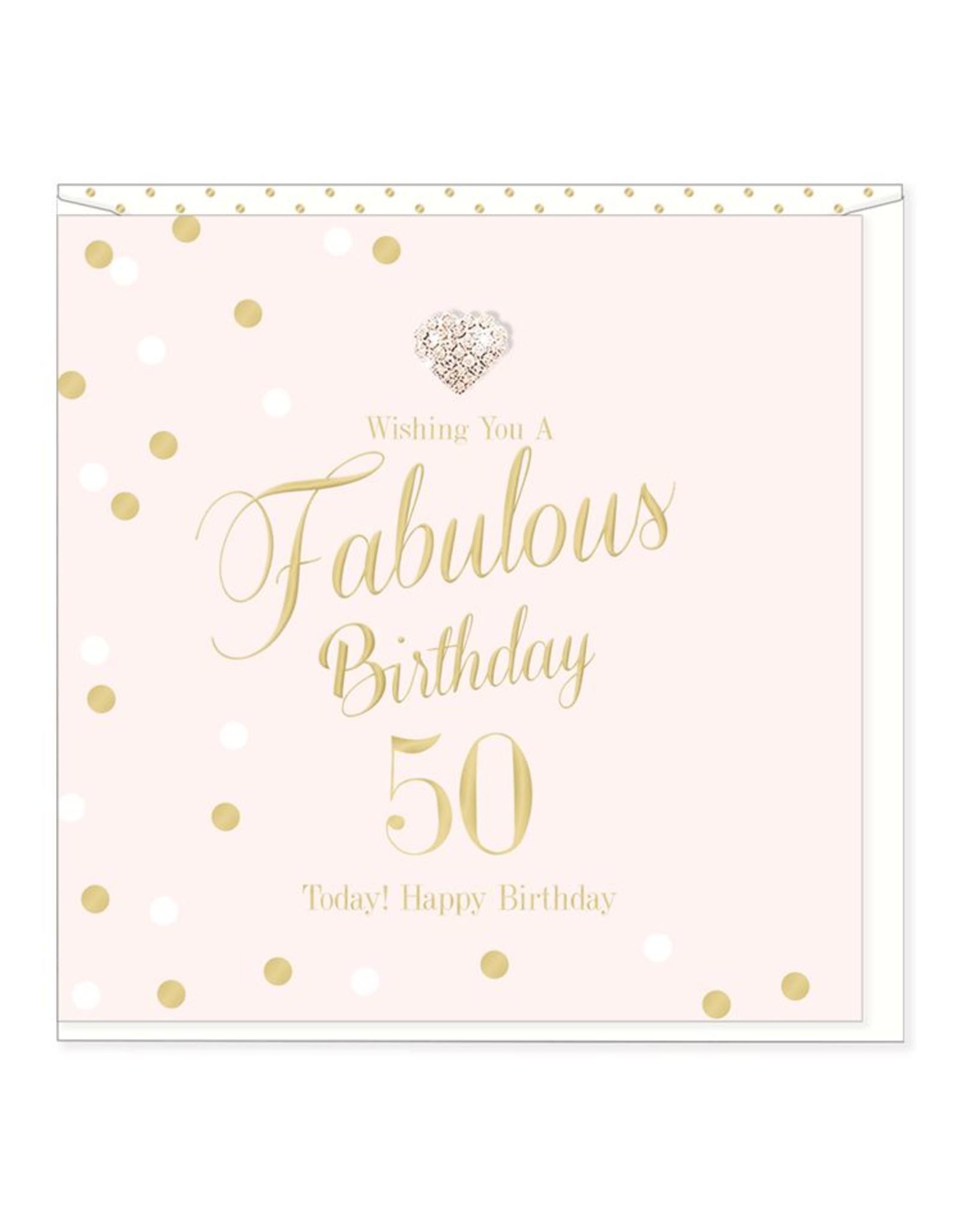 Hearts Design Fabulous Birthday - 50
