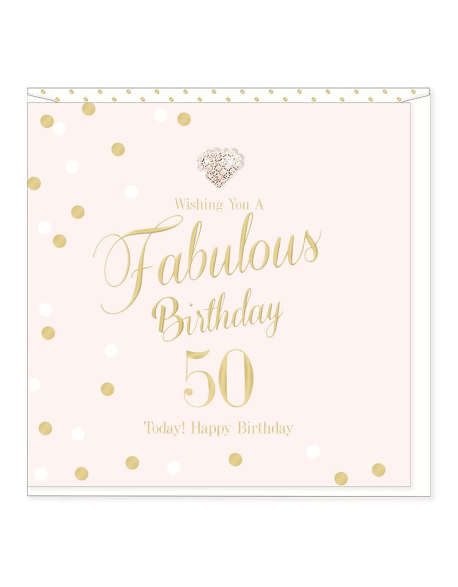 Hearts Design Wenskaart - Fabulous Birthday - 50