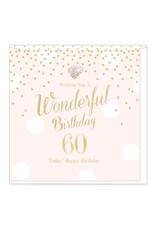 Hearts Design Wonderful Birthday - 60