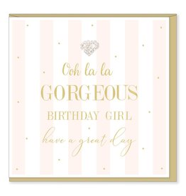 Hearts Design Ooh La La Gorgeous Birthday Girl