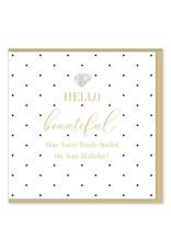 Hearts Design Wenskaart - Hello Beautiful - Birthday