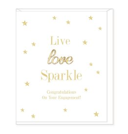 Hearts Design Live, Love, Sparkle - Engagement