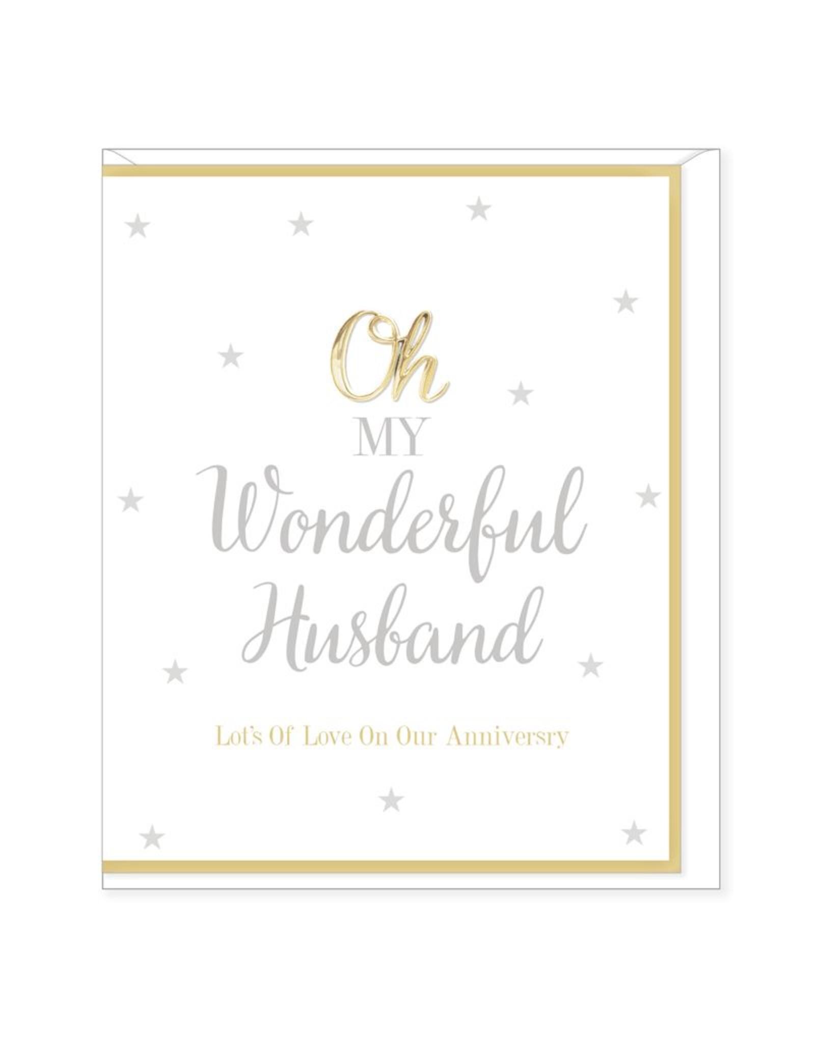 Hearts Design Wenskaart - My Wonderful Husband - Anniversary