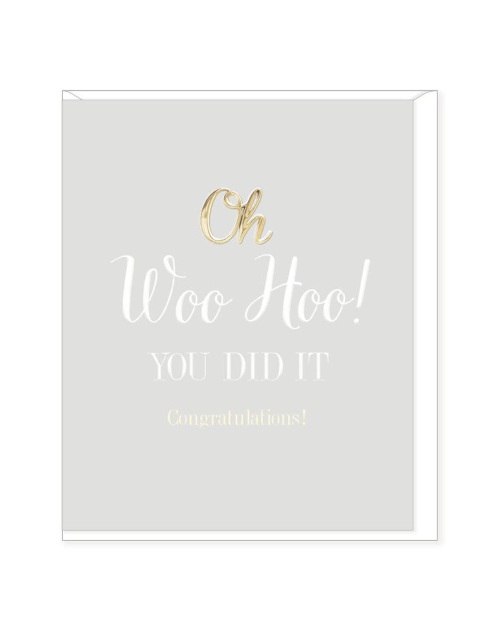 Hearts Design Wenskaart - Woo Hoo, You did it!