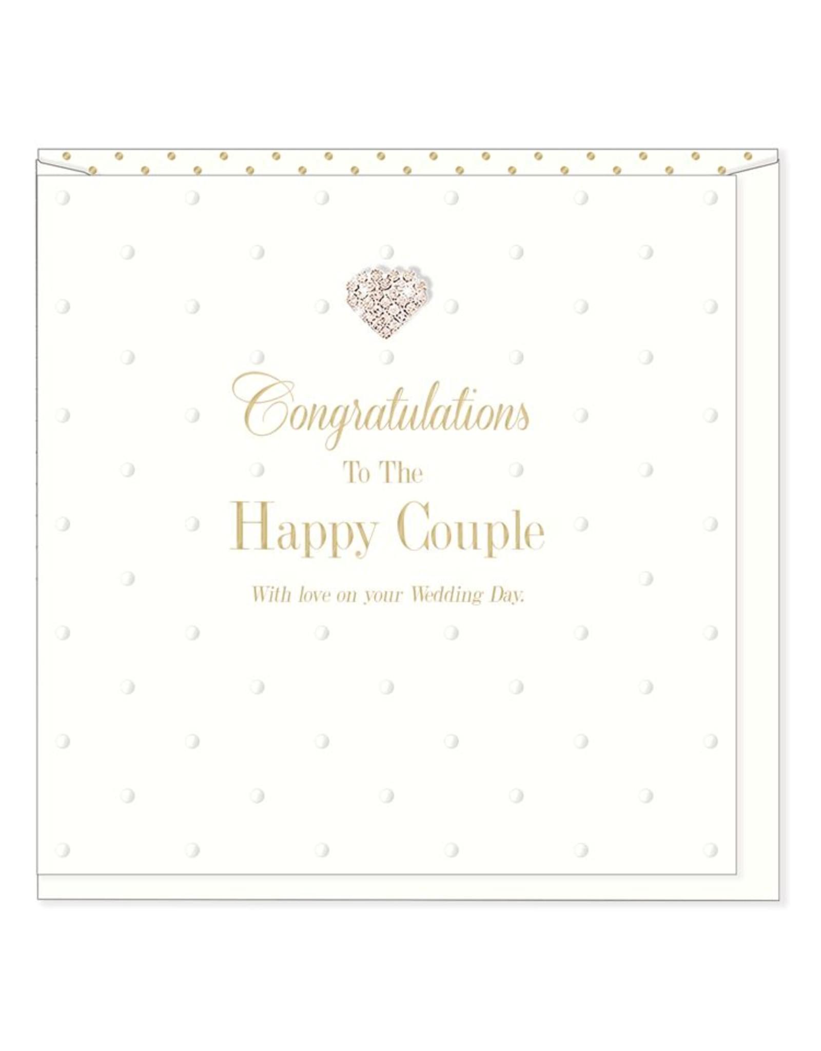 Hearts Design Wenskaart - Congratulations, to the Happy Couple