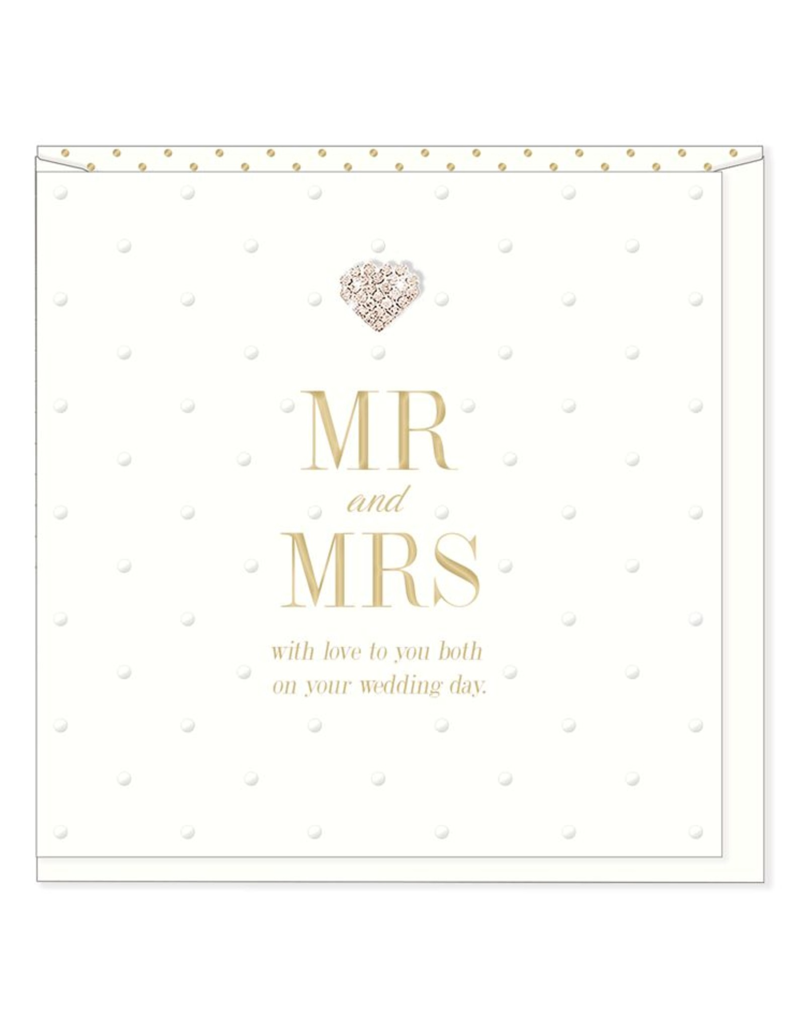 Hearts Design Wenskaart - Mr & Mrs - On your Wedding Day