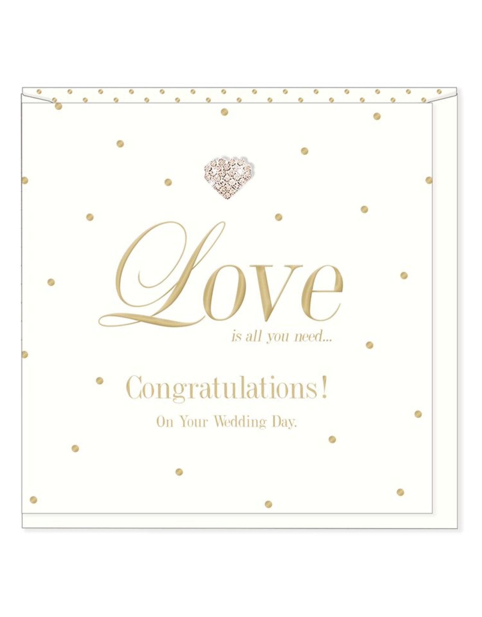 Hearts Design Wenskaart - Congratulations on your Wedding Day
