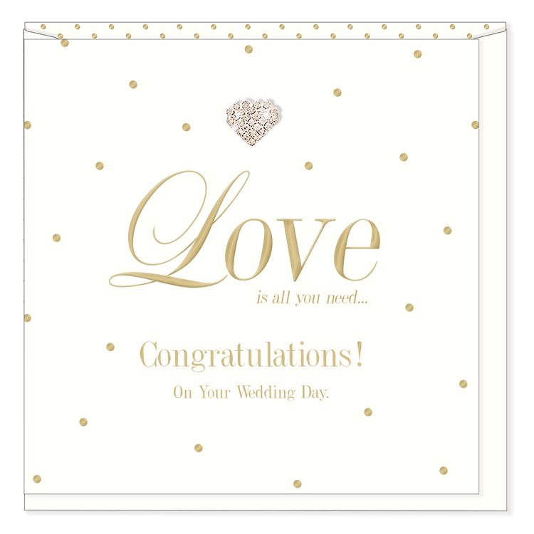 Hearts Design Congratulations on your Wedding Day