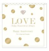 Hearts Design Happy Anniversary