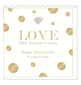 Hearts Design Happy Anniversary