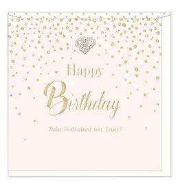 Hearts Design Happy Birthday