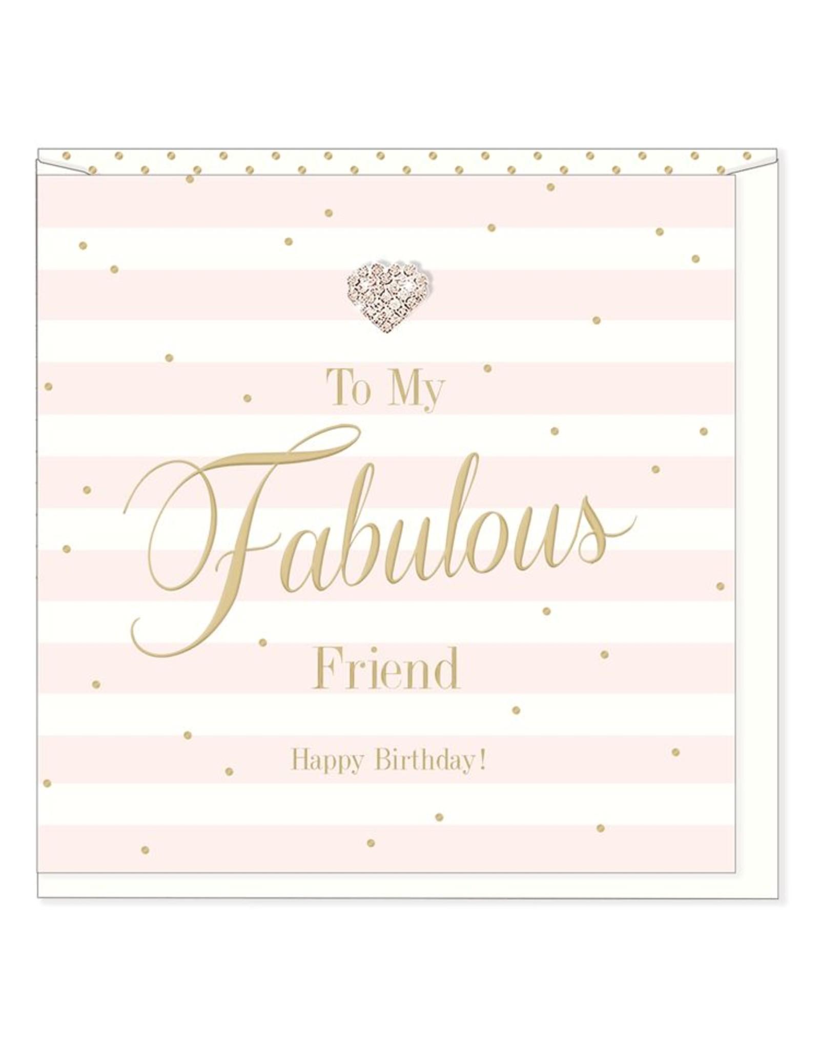 Hearts Design Wenskaart - Fabulous Friend - Birthday
