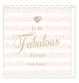 Hearts Design Fabulous Friend - Birthday