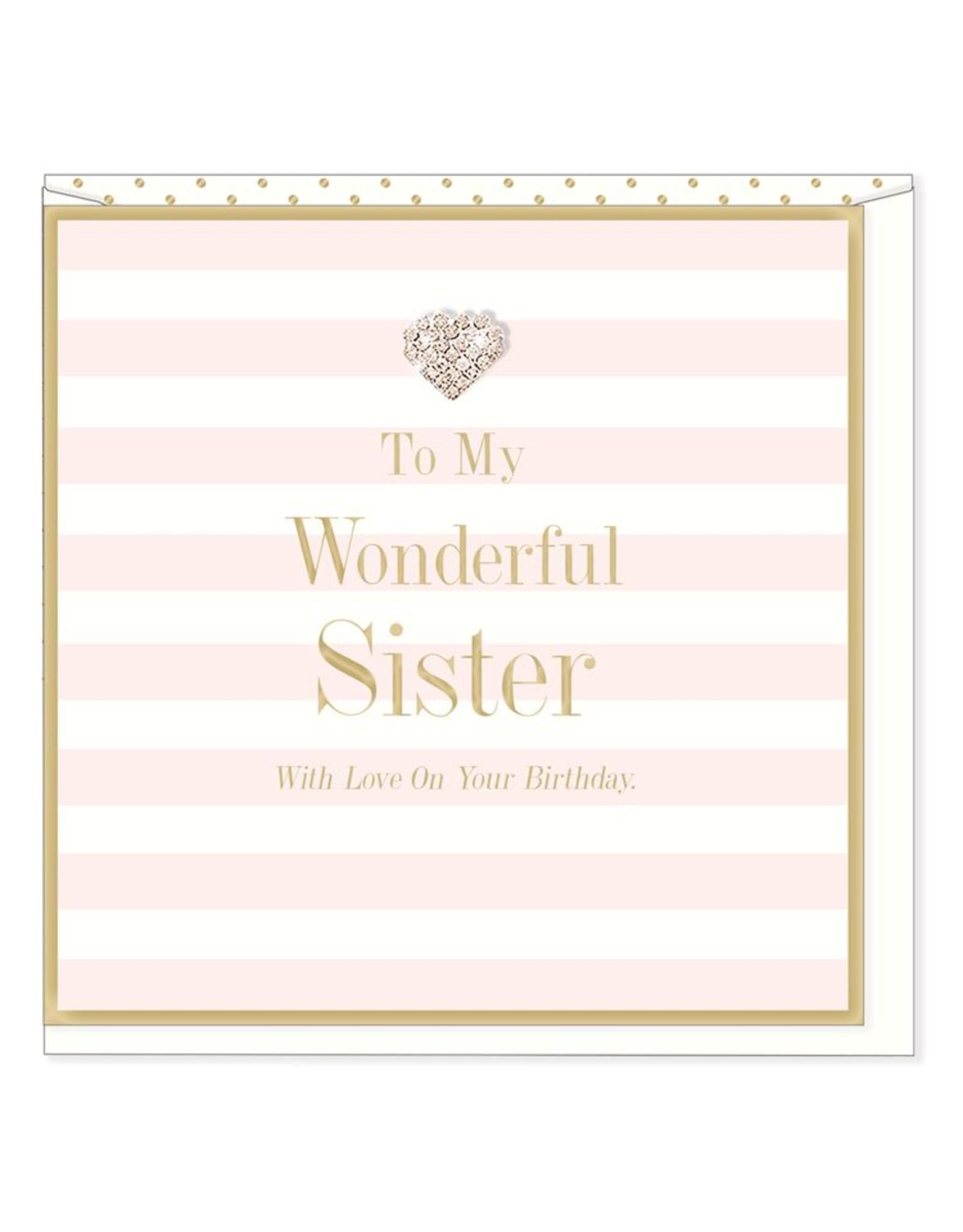 Hearts Design Wonderful Sister - Birthday