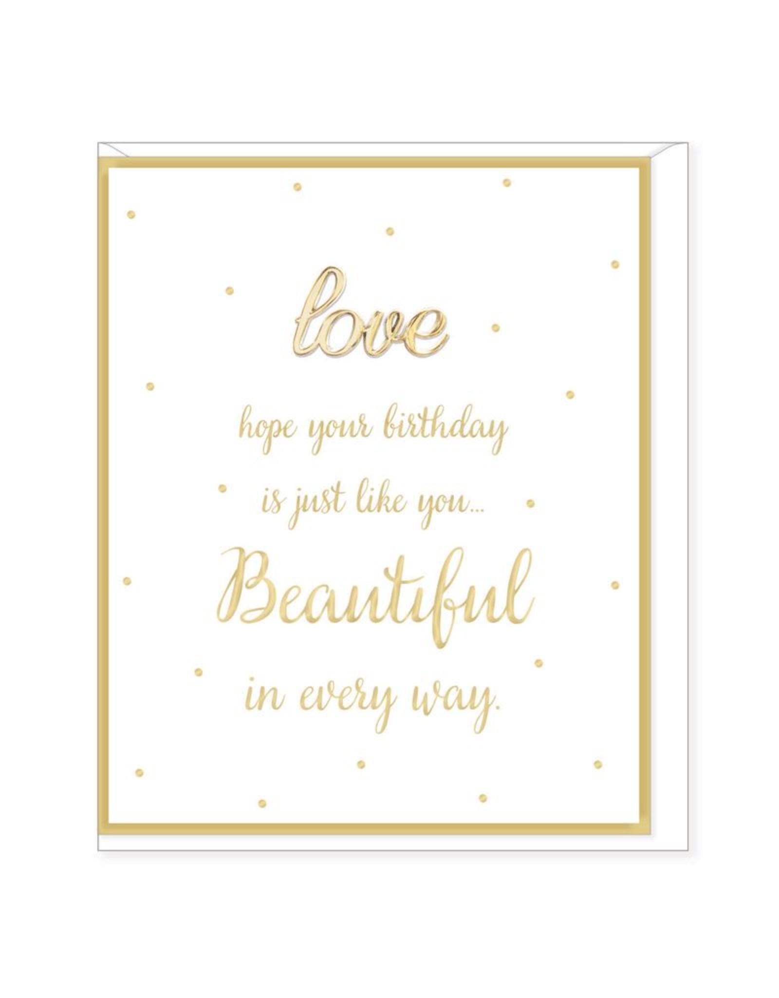 Hearts Design Wenskaart - Love on your Birthday