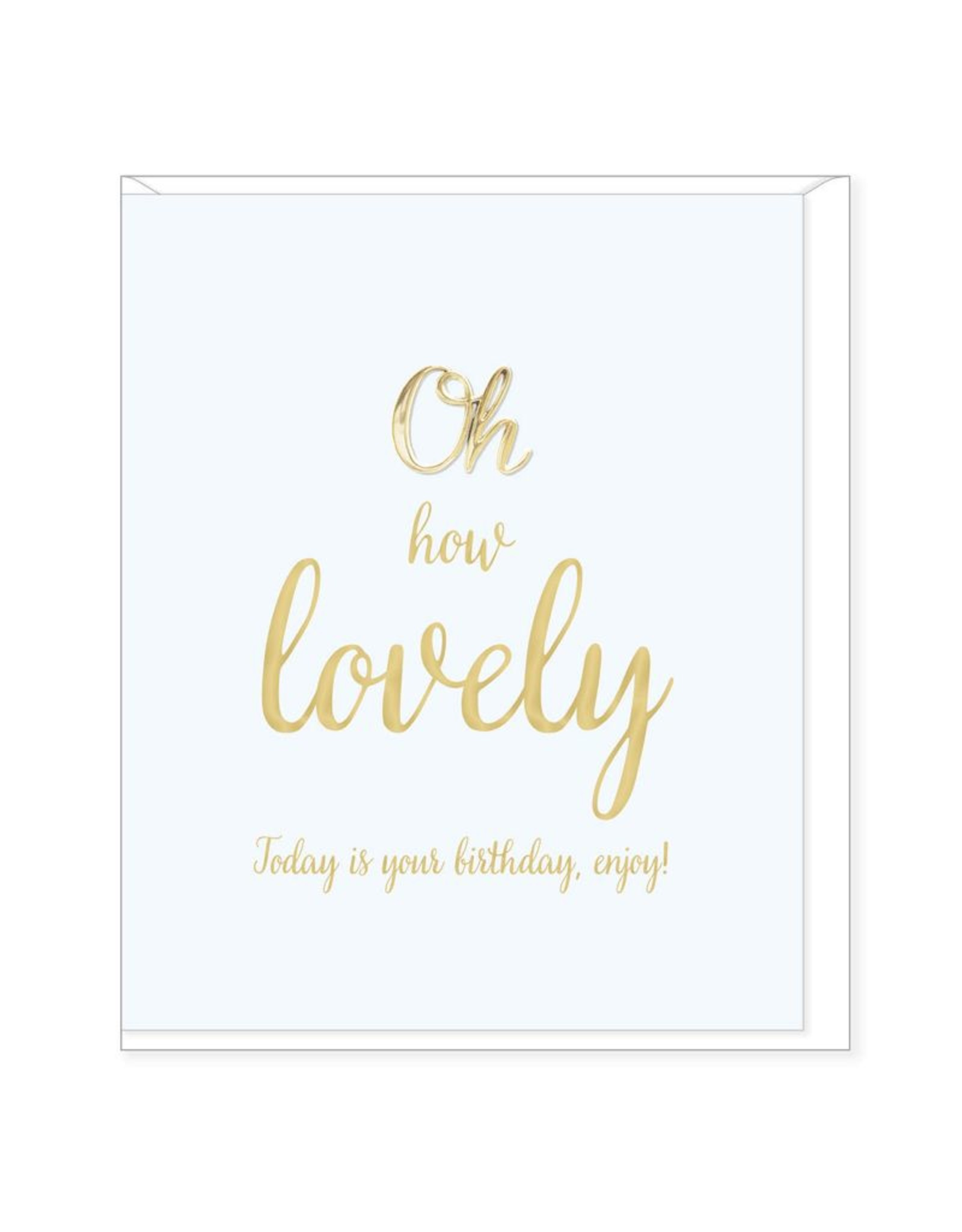 Hearts Design Wenskaart - Lovely Birthday