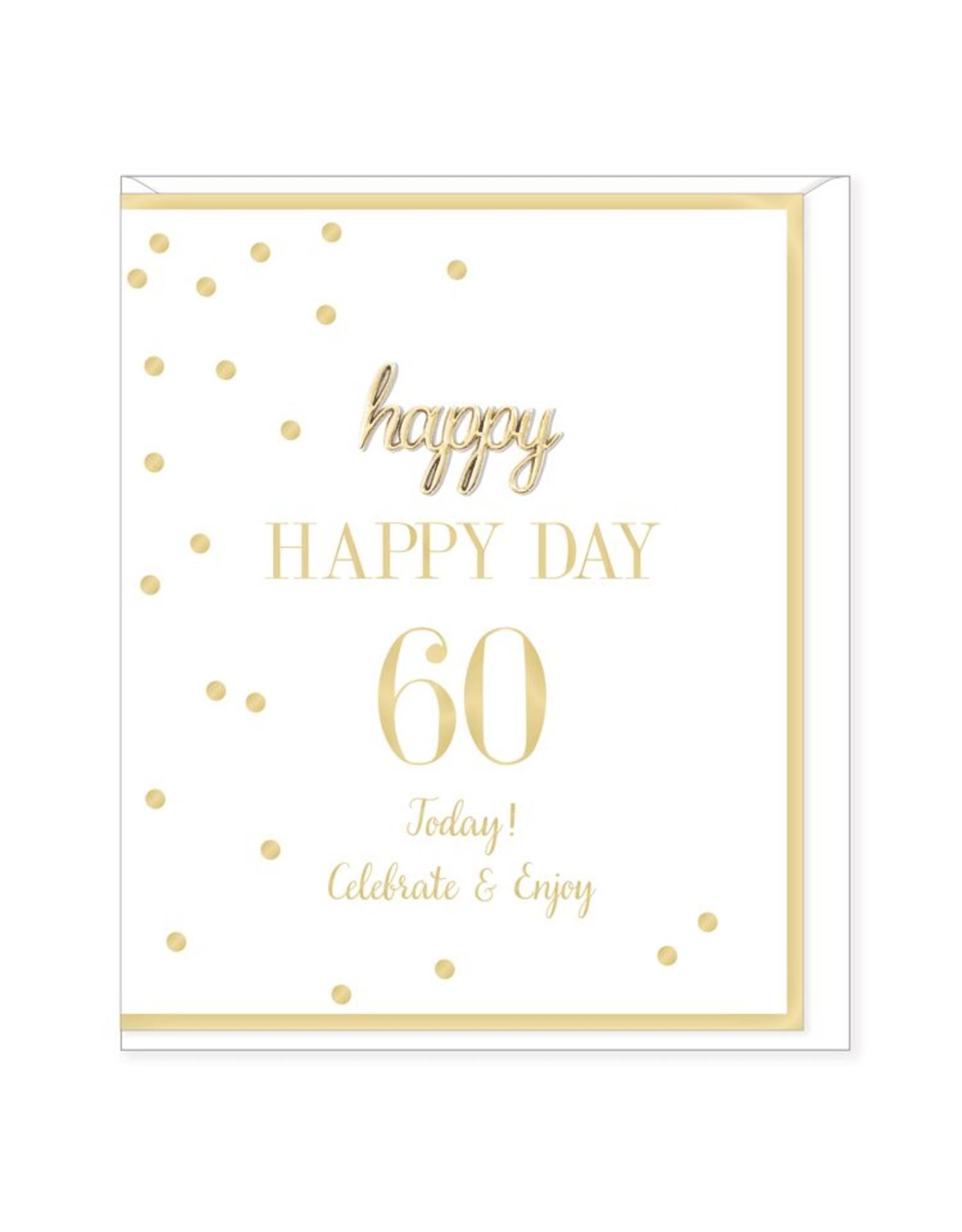 Hearts Design Wenskaart - Happy Day - 60
