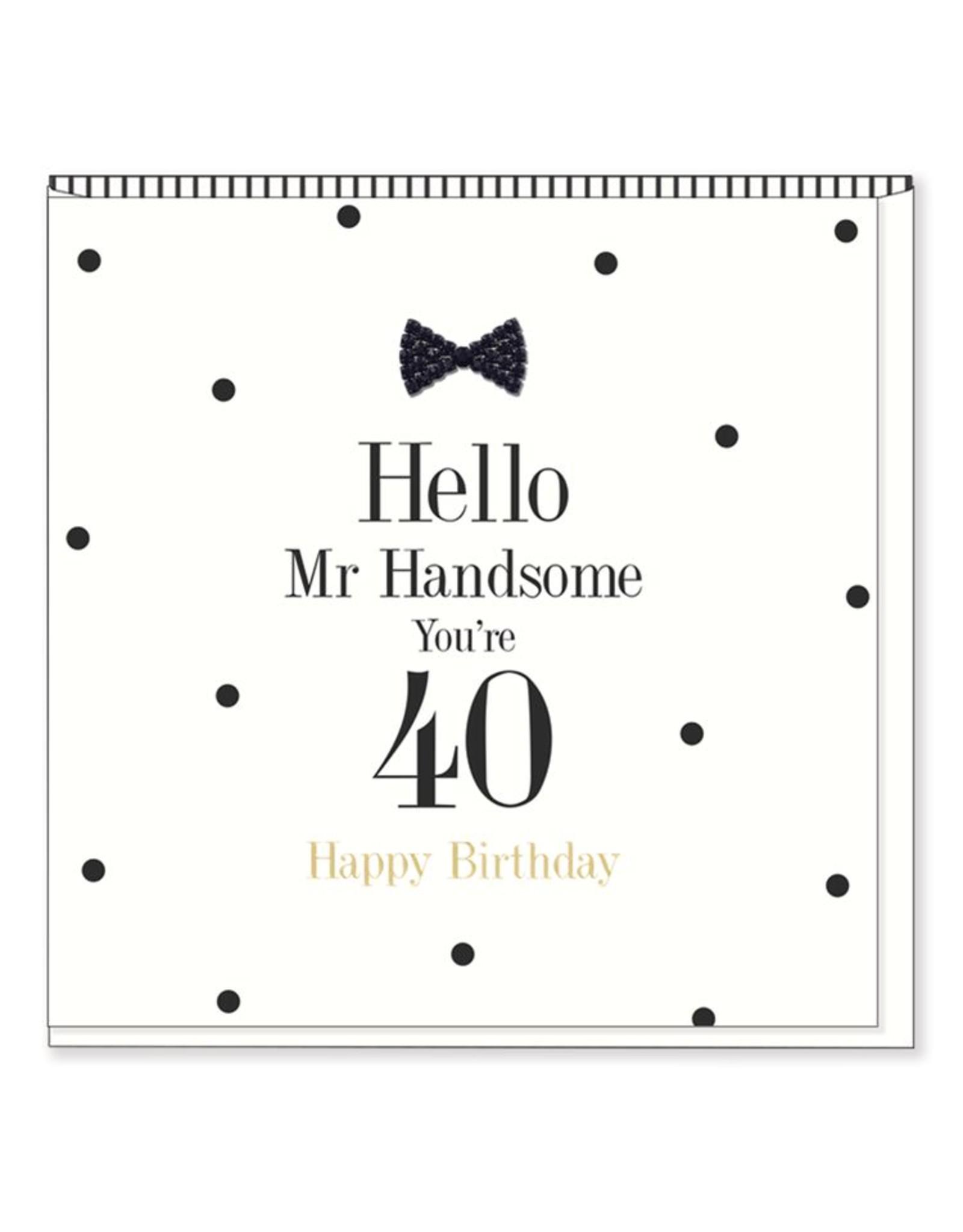 Hearts Design Wenskaart - Mr Handsome - 40