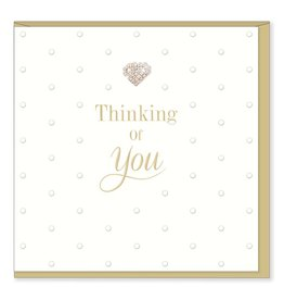 Hearts Design Wenskaart - Thinking of you