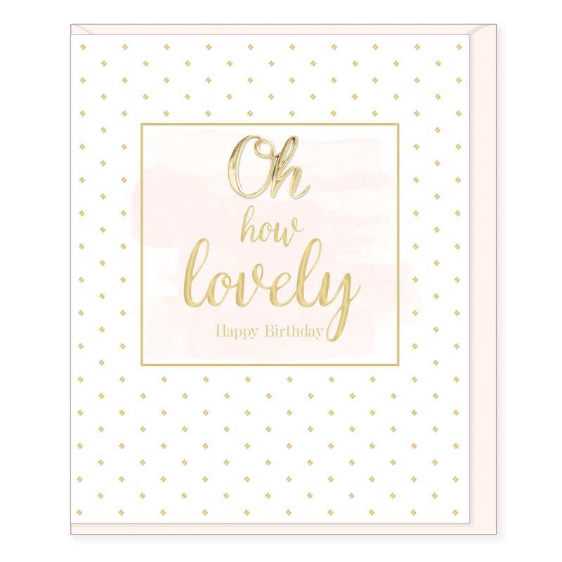 Hearts Design How Lovely - Happy birthday