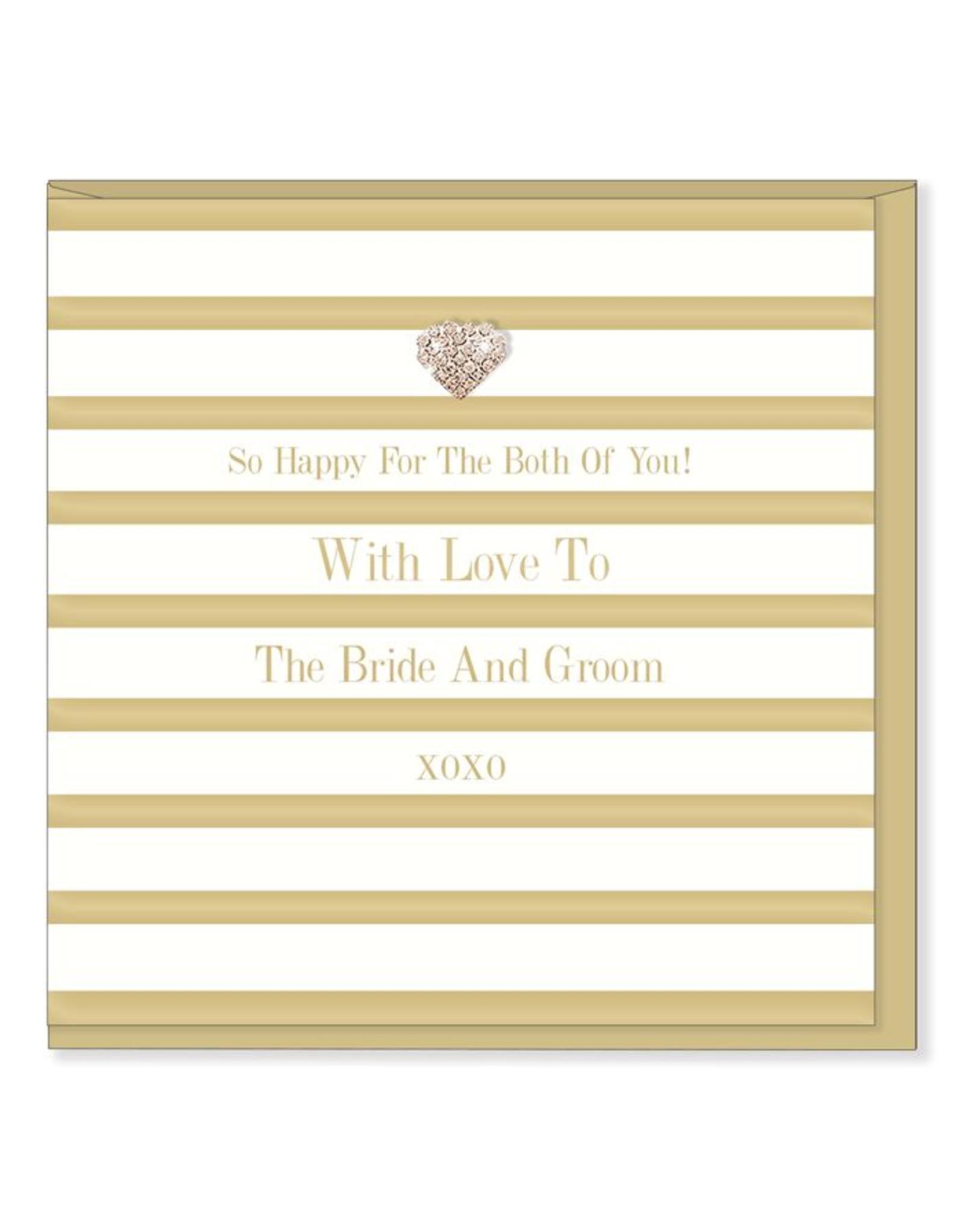 Hearts Design Wenskaart - With Love to the Bride & Groom
