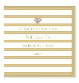 Hearts Design Wenskaart - With Love to the Bride & Groom