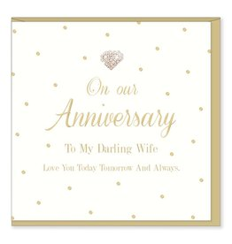 Hearts Design To my Darling Wife - Anniversary