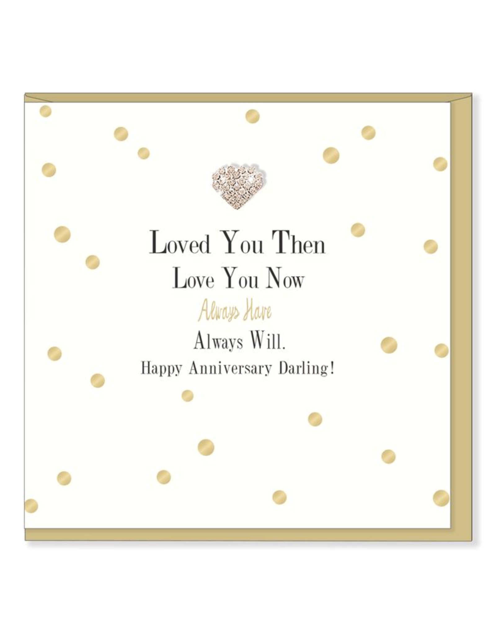 Hearts Design Wenskaart - Happy Anniversary Darling
