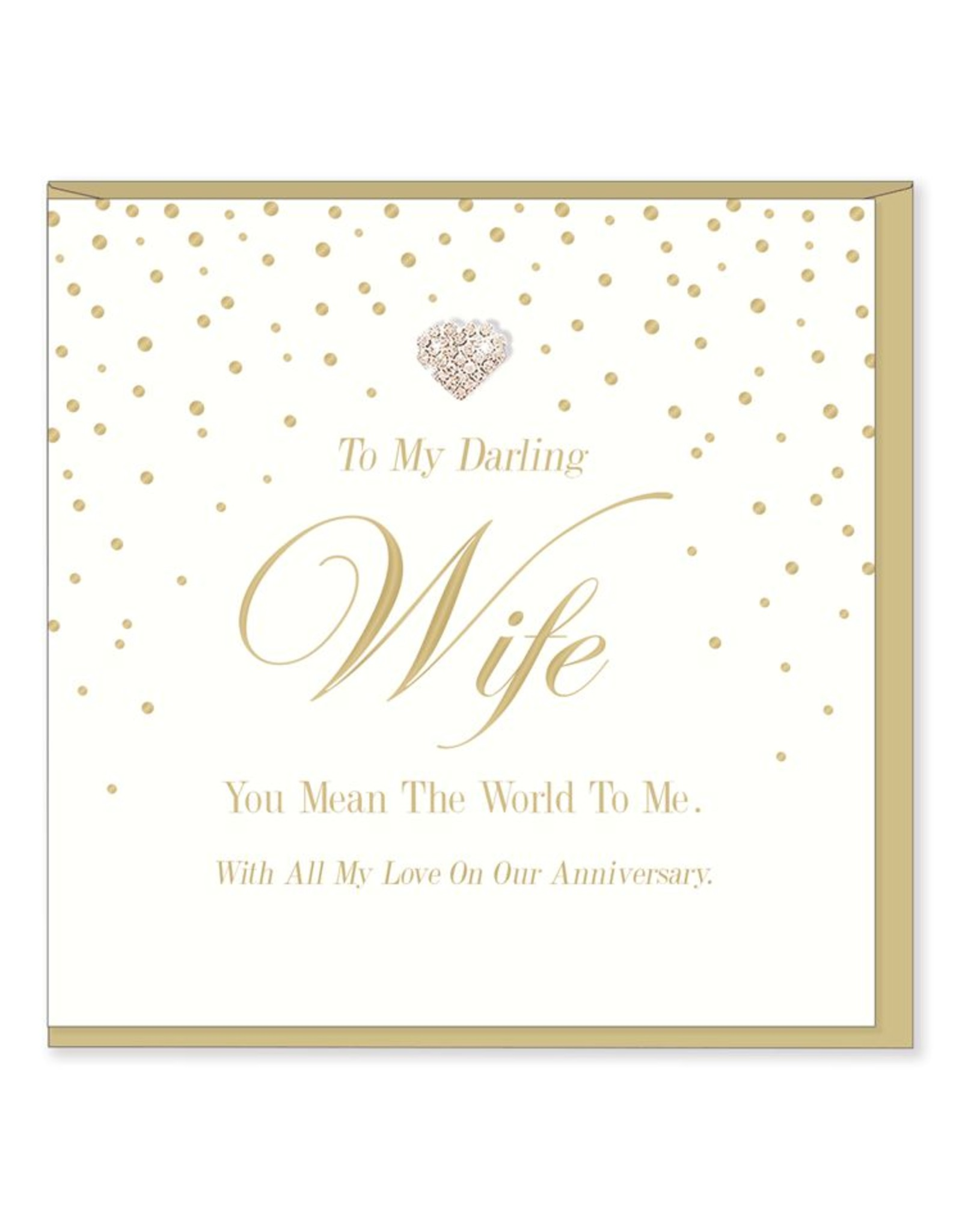 Hearts Design Wenskaart - To my Darling Wife - Anniversary
