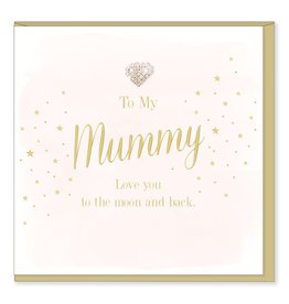 Hearts Design Wenskaart - Mummy, to the Moon and back