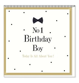 Hearts Design Wenskaart - No1 Birthday Boy