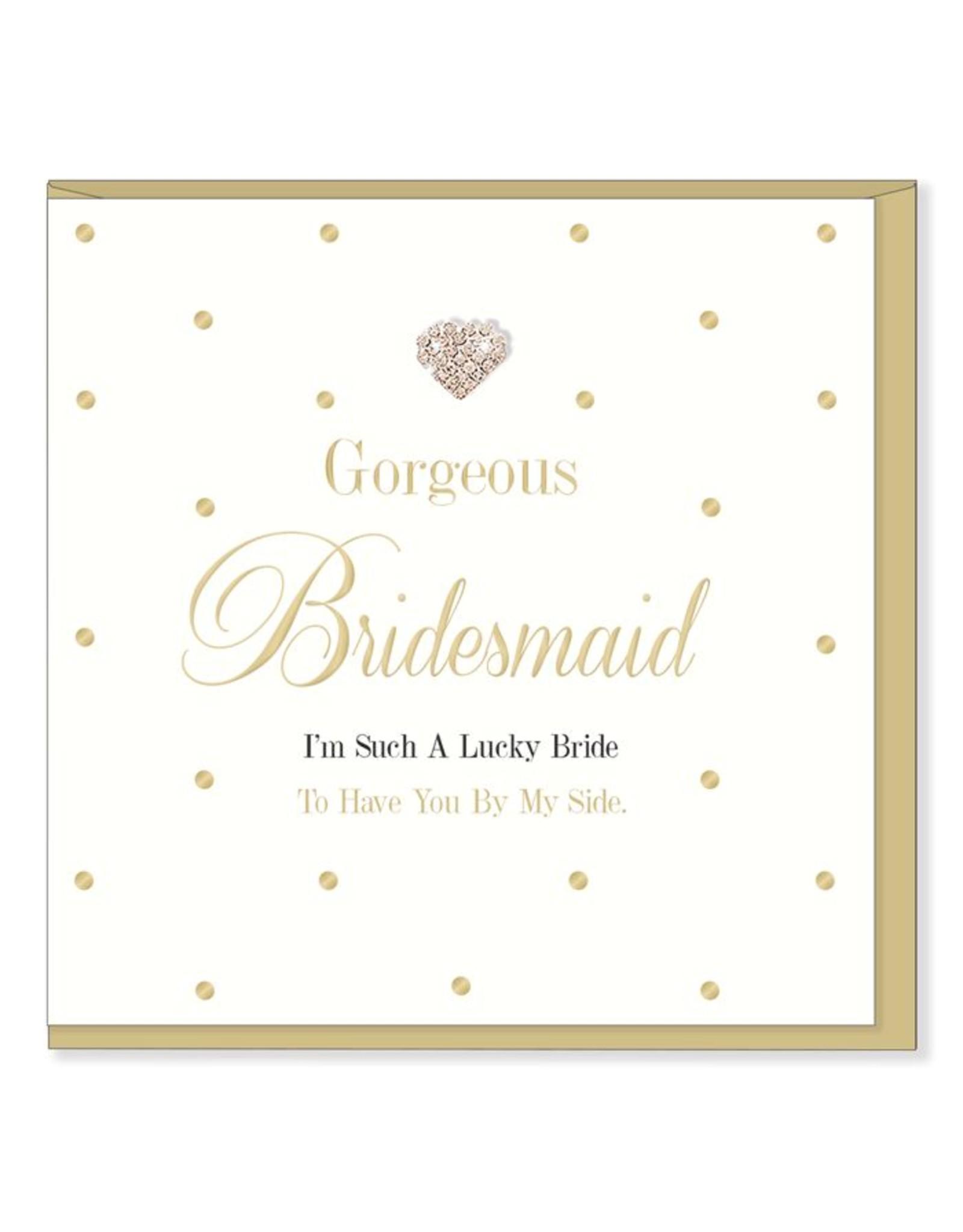 Hearts Design Wenskaart - Gorgeous Bridesmaid
