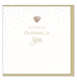 Hearts Design Wenskaart - All I want for Christmas