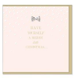 Hearts Design Wenskaart - Merry Little Christmas