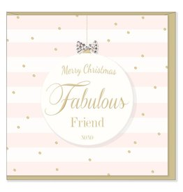 Hearts Design Merry Christmas Fabulous Friend