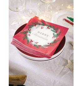 Talking Tables Botanical Christmas - Servetten Rood