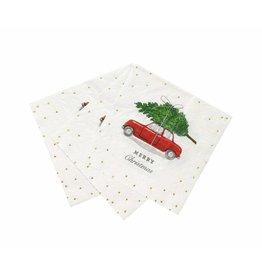 Talking Tables Botanical Christmas - Servetten Auto